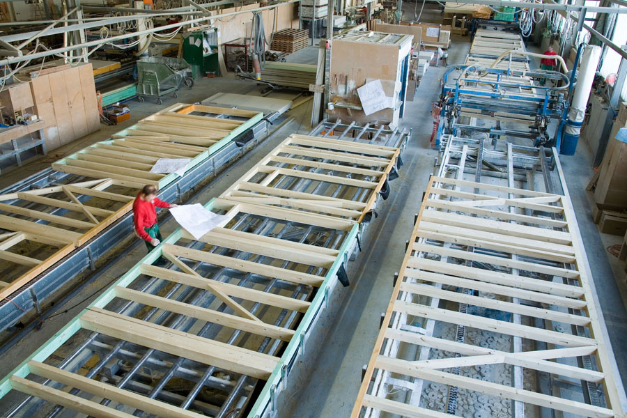 Production of prefabricated houses - Prefabricated House